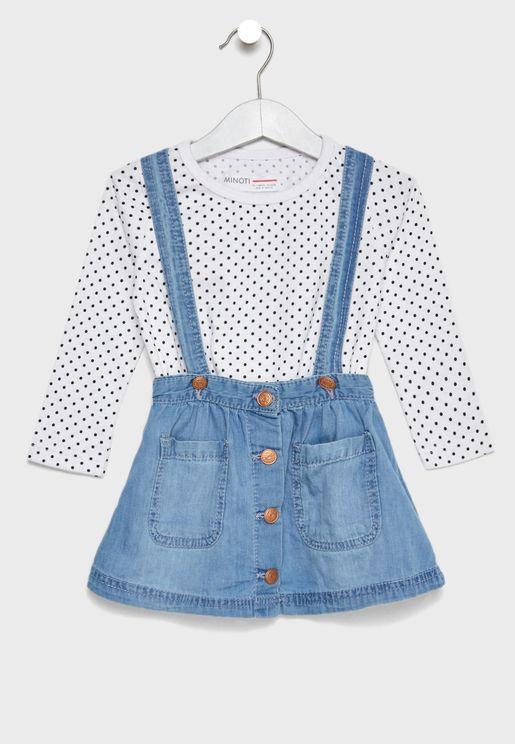 Infant Printed Top + Skirt Set