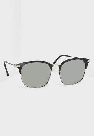 d3131063f8 Shop Seventy five silver Mirror Lens Round Sunglasses 1810 for Men ...