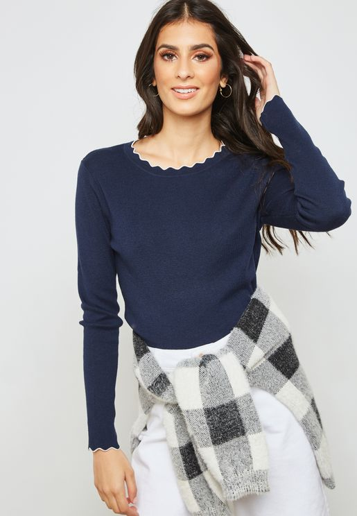 Scallop Detail Sweater