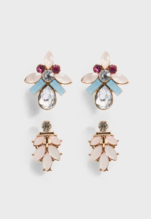 Multipack Blair Stone Earrings