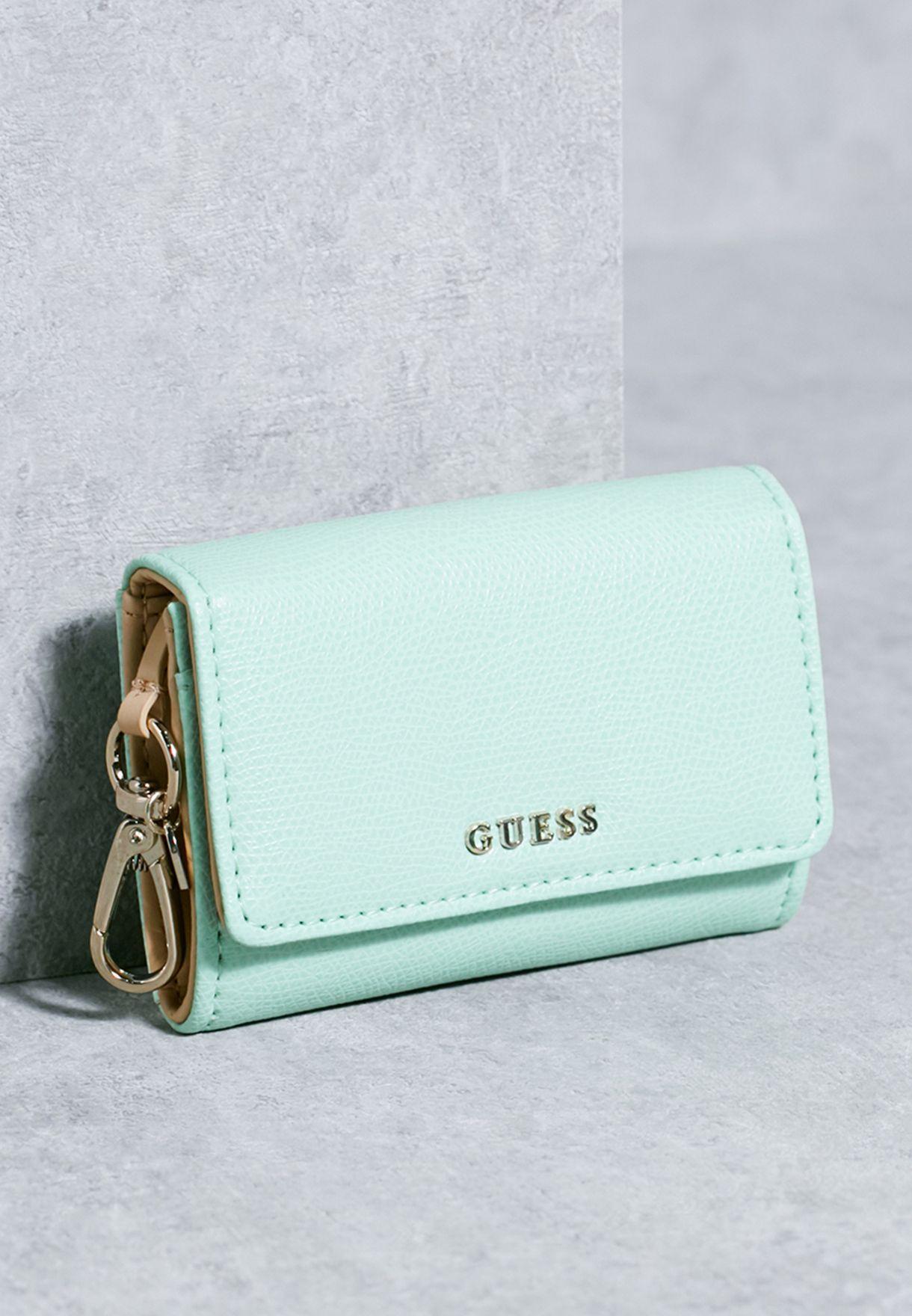 Shop Guess green Mini Devyn Mighty Wallet EP642161 for Women in Qatar -  GU094AC09QKC 261bf62f3f