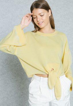 Knotted Oversized Sweatshirt