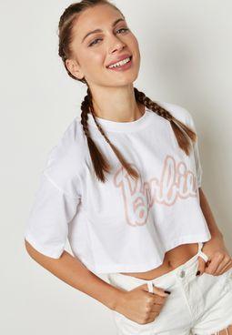 MG Barbie Slogan Crop T-Shirt