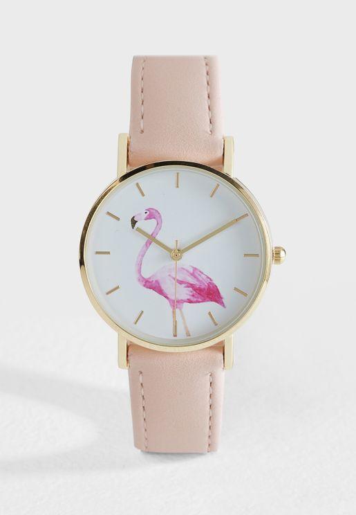 Flamingo Dial Watch