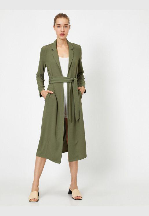 Belted Long Kimono