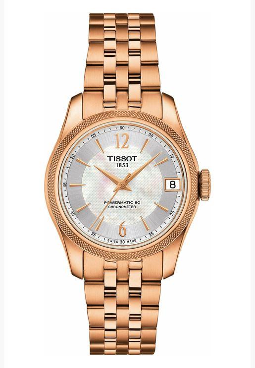 ساعة تيسو باليد كوسك للنساء بسوار فولاذي - T108.208.33.117.00