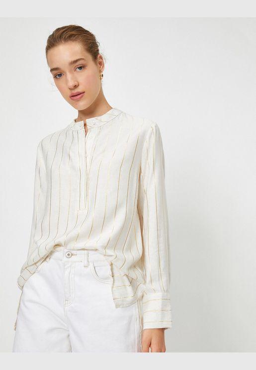 Long Sleeve Striped Tunic