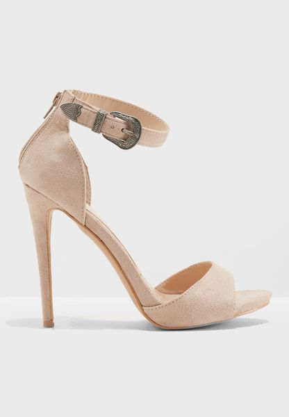 Western Buckle Heel Sandal