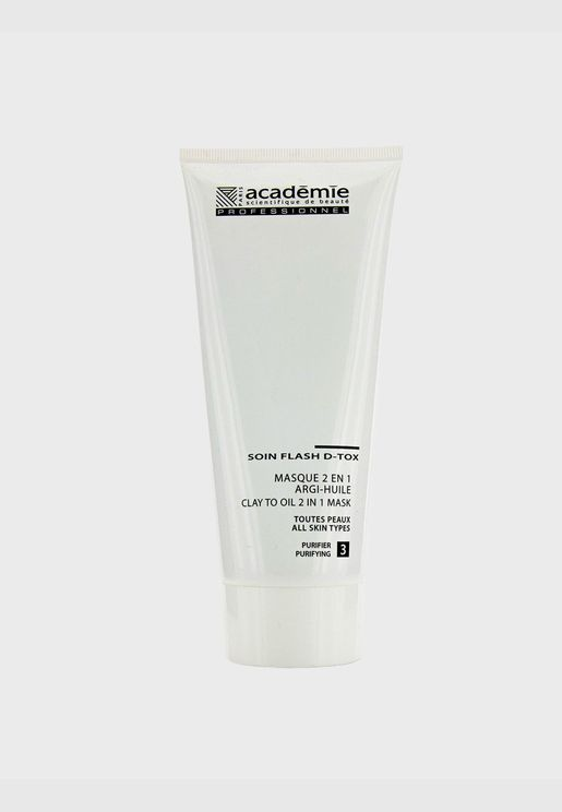 Clay To Oil 2 in 1 Mask - For All Skin Types (Salon Size)