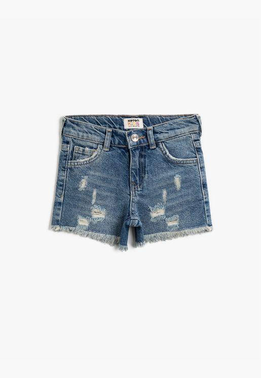 Cotton Jean Shorts