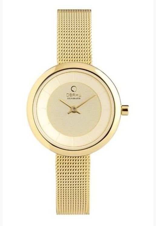 Obaku Stille Mesh Strap Watch for Women - V146LGGMG
