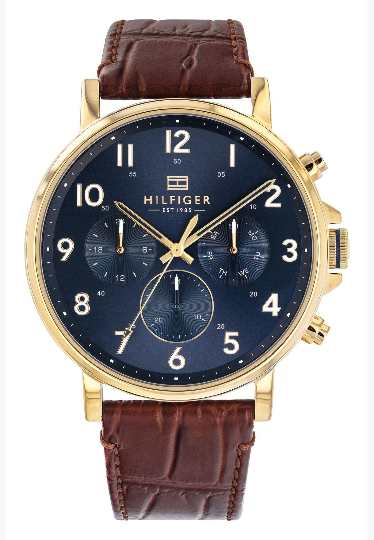 ساعة تومي هيلفيغر دانيال بسوار جلد للرجال - 1710380