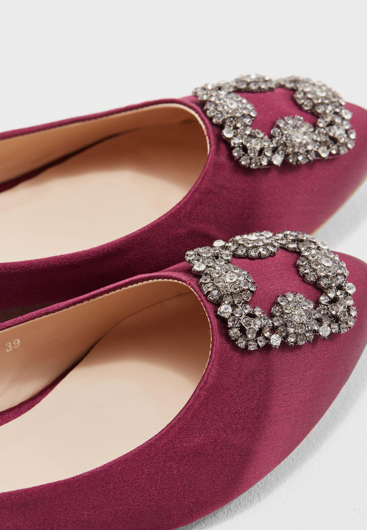 Selena Embellished Ballerinas