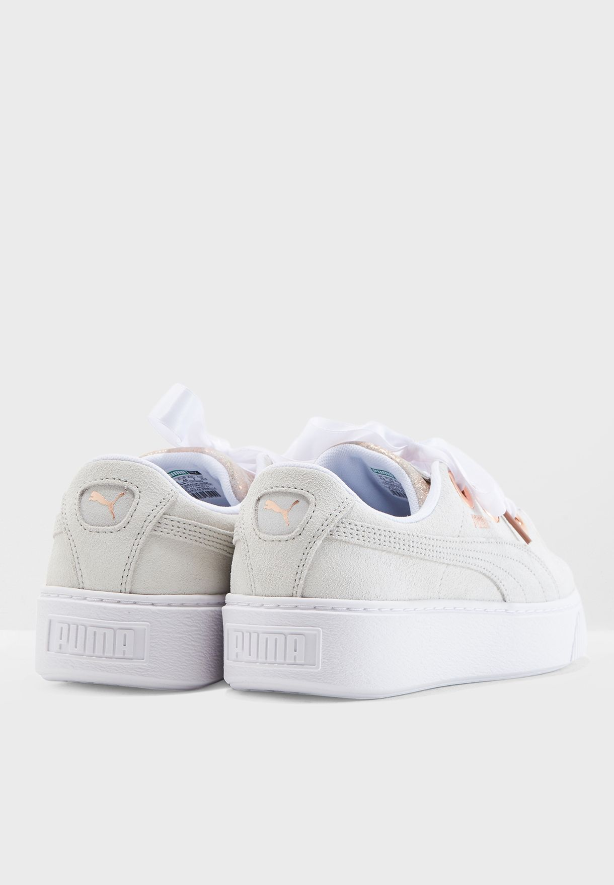 7fc59f9bb67c Shop PUMA white Platform Kiss Artica 36670701 for Women in Kuwait ...