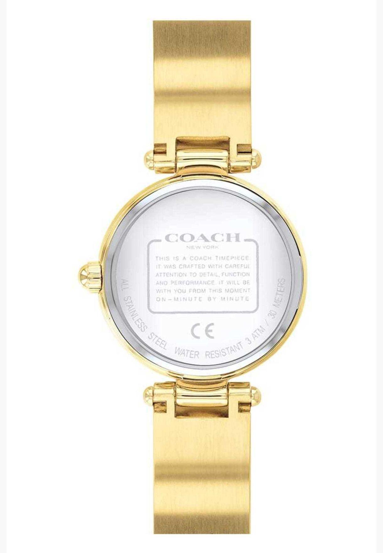 ساعة كوتش بارك للنساء بسوار ستانلس ستيل - 14503276