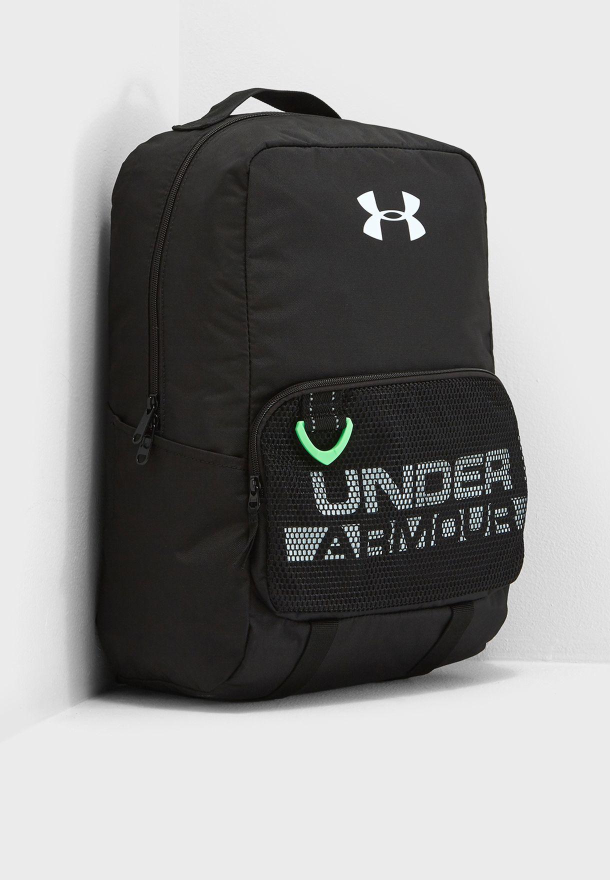 41c73920d4 Shop Under Armour black Kids Logo backpack 1308765-001 for Kids in ...