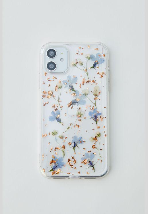 حقيبة هاتف ذكي بطبعة زهور جافة
