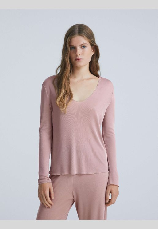 Tencel® long-sleeved T-shirt