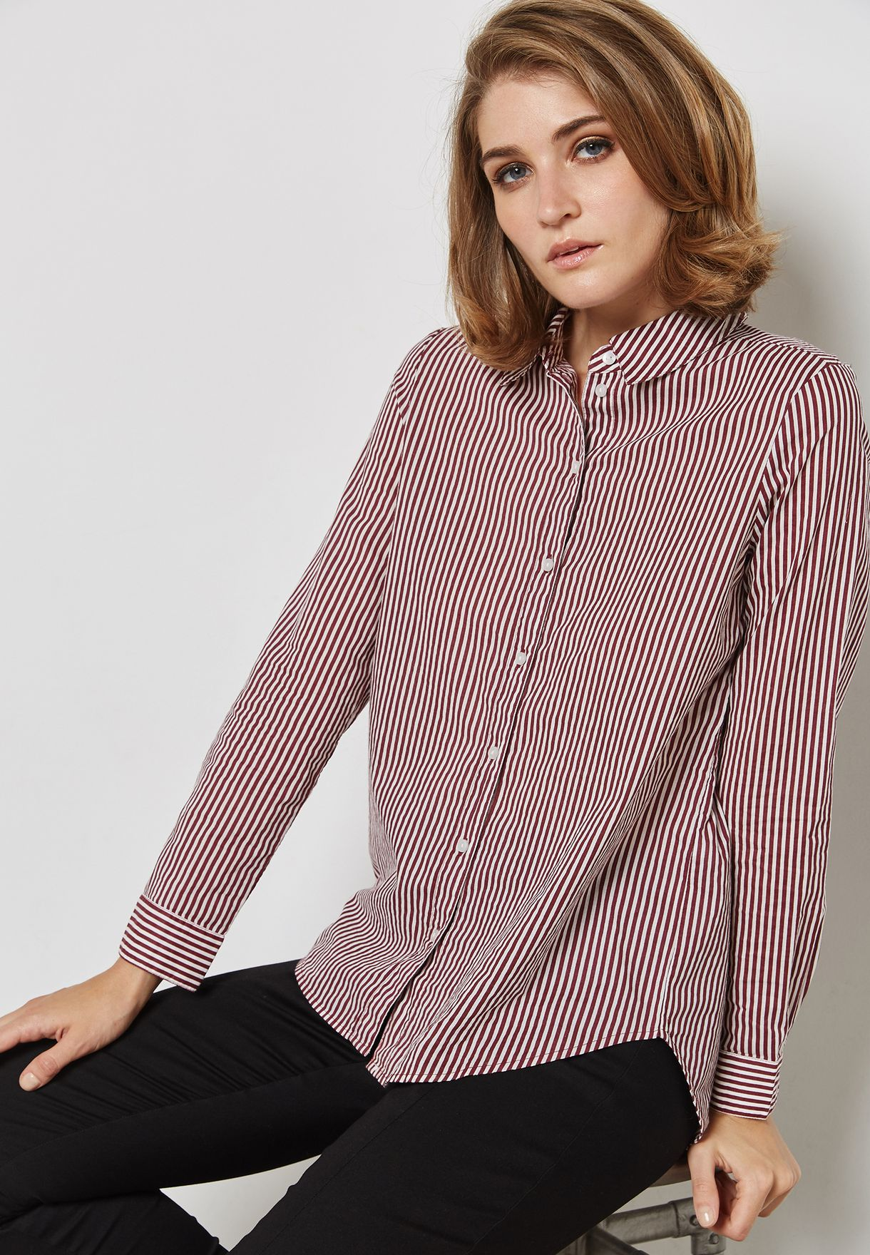 0db34f0dfa Shop Vero Moda stripes Striped Shirt 10185540 for Women in Bahrain ...