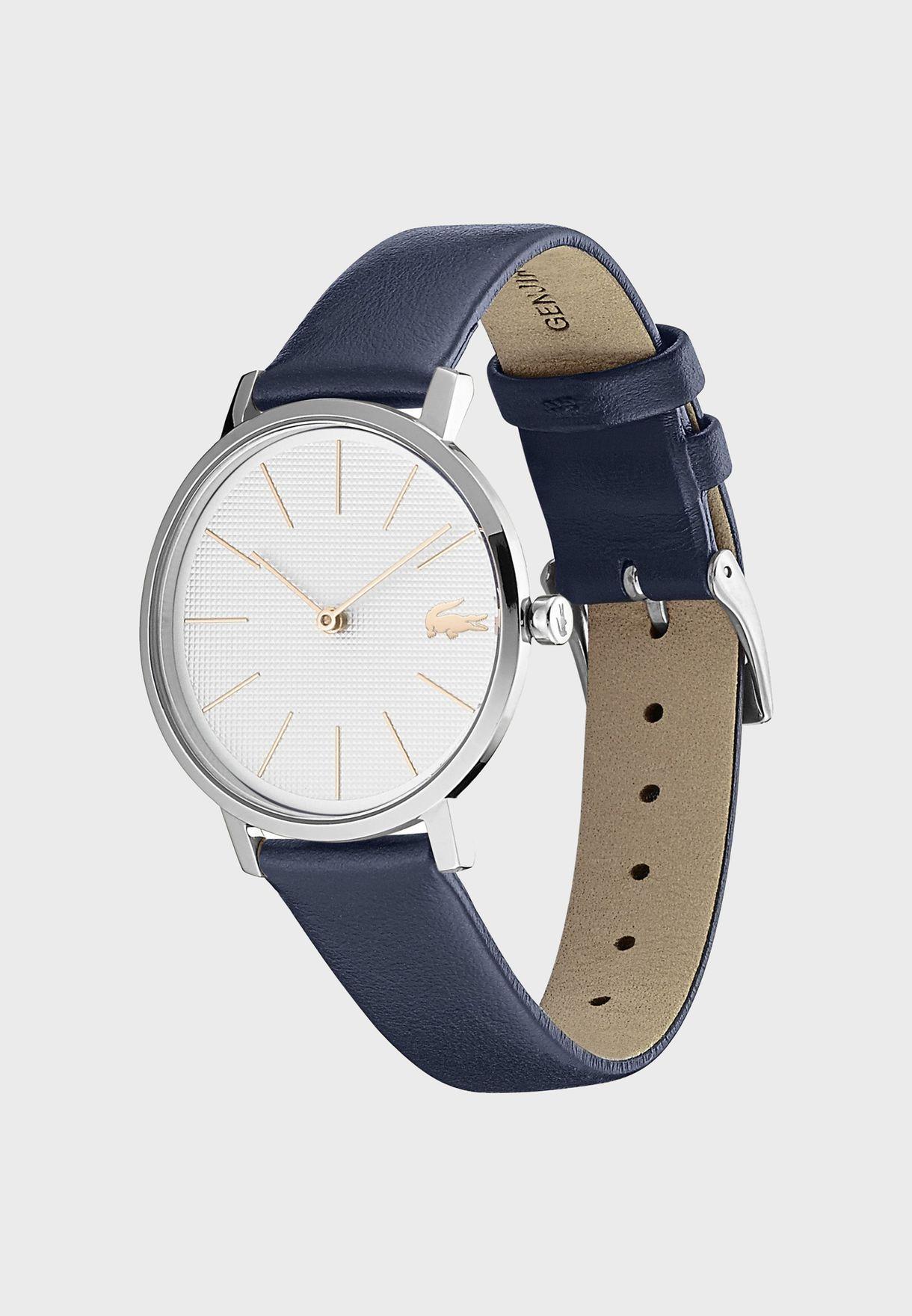 ساعة لاكوست مون بسوار جلد للنساء - 2001077