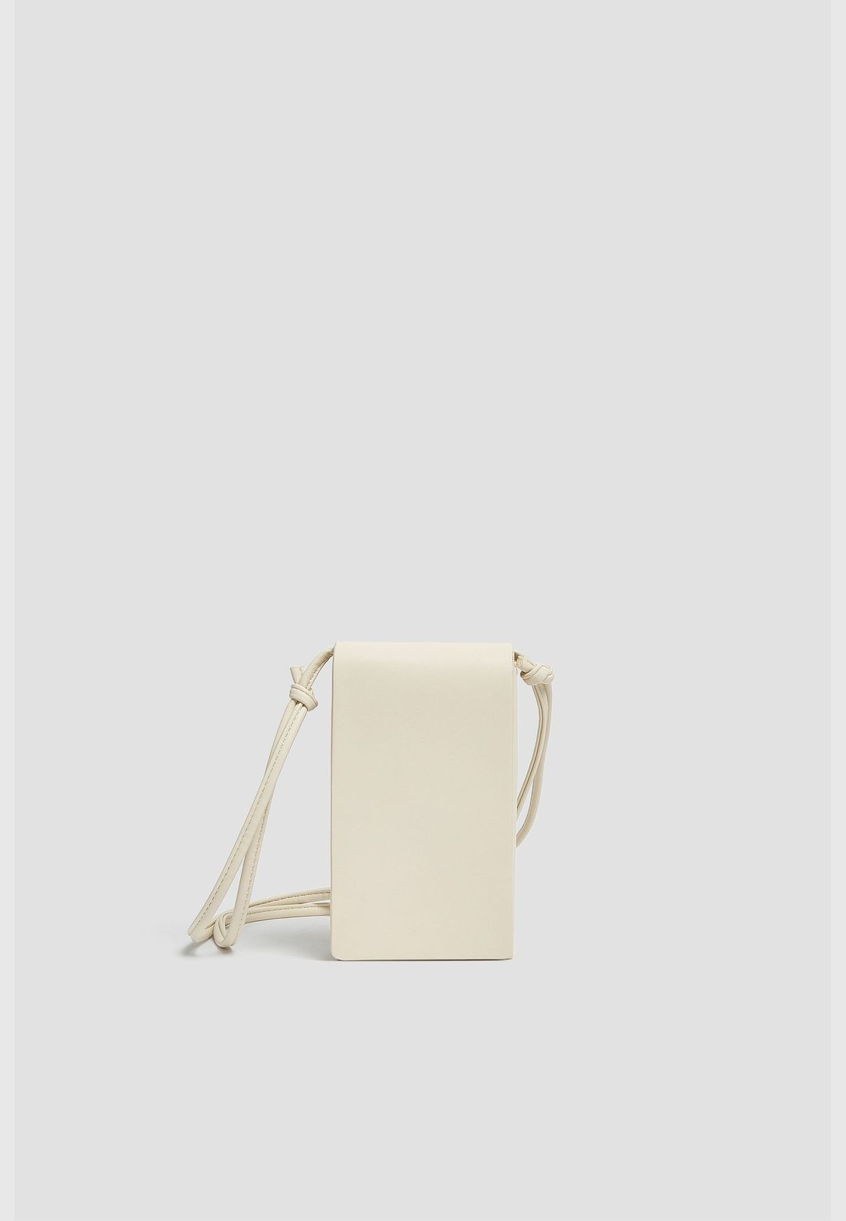 Crossbody mobile phone pouch with flap