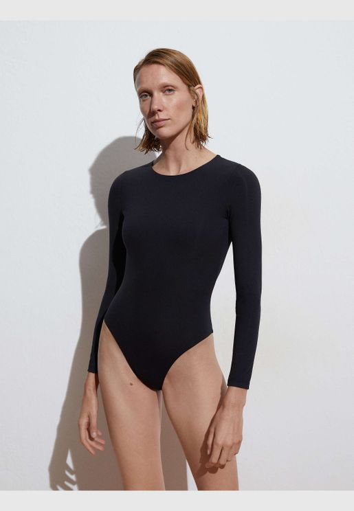 Swimsuit with open back
