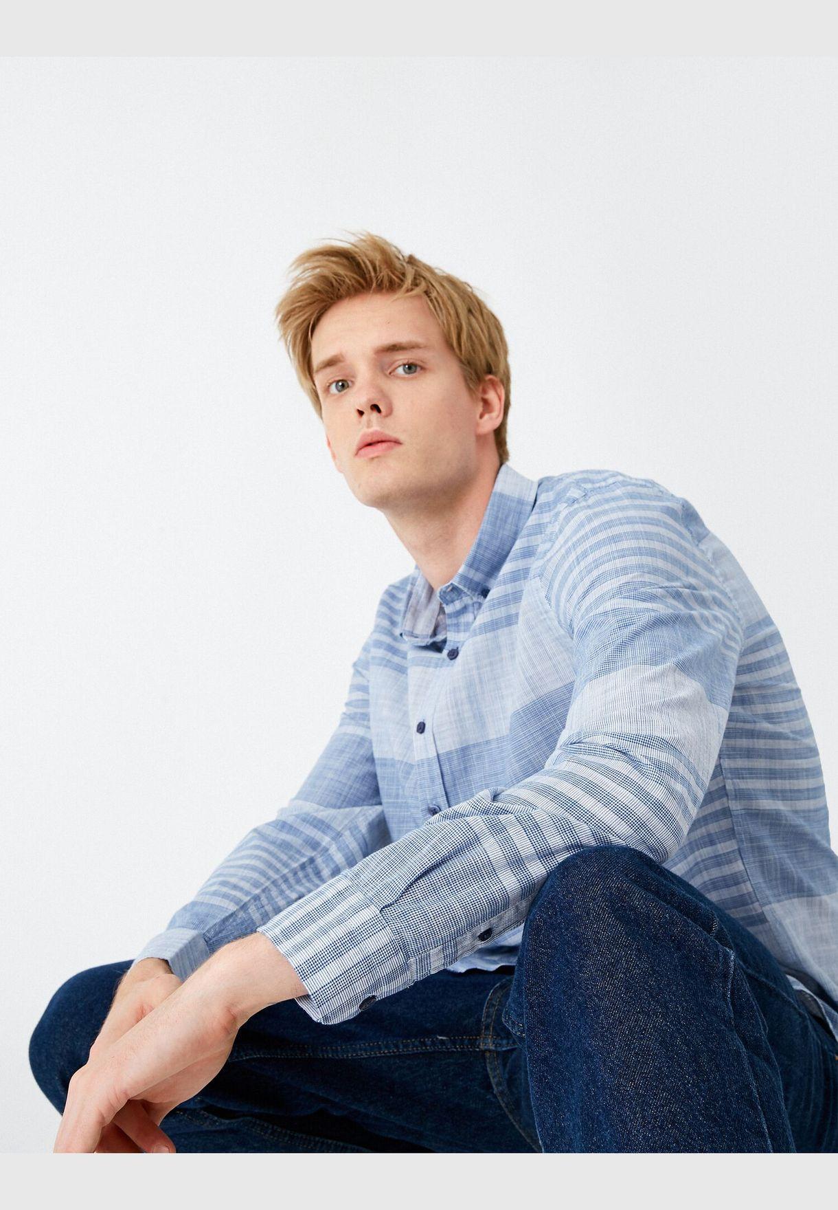 %100 Cotton Patterned Shirt