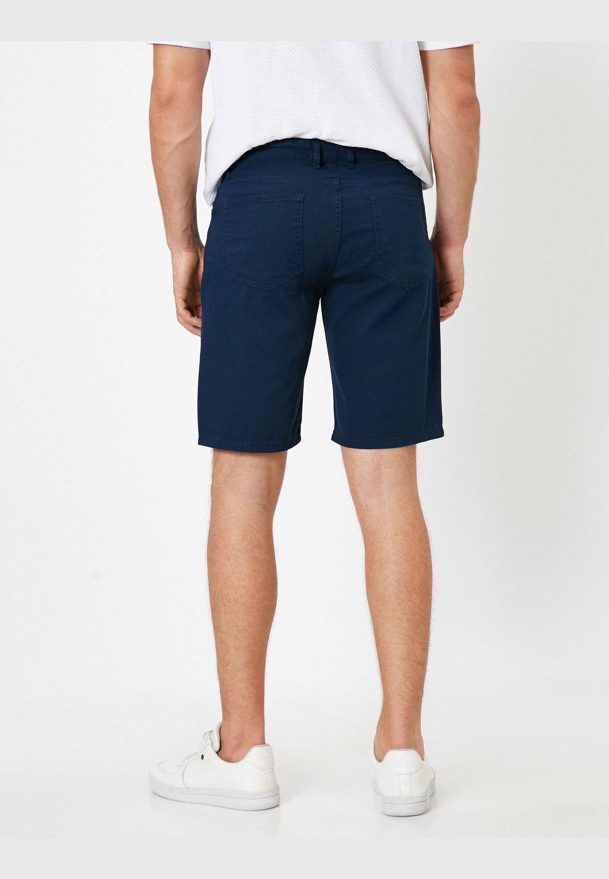 Adjustable Rope Belted Woven Shorts