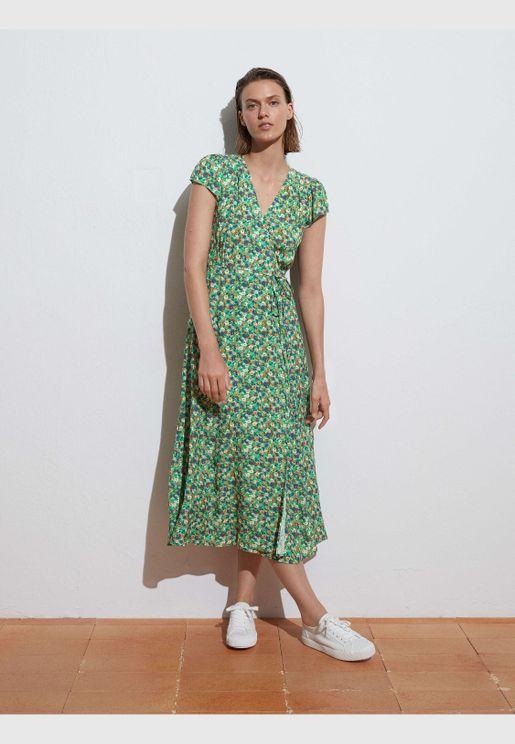 Long vintage floral dress