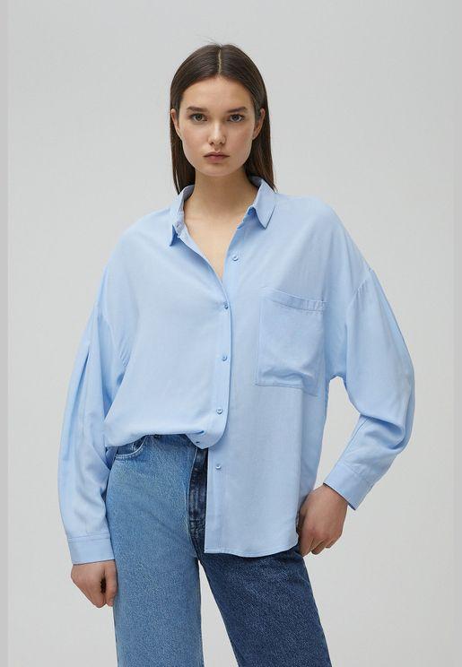 Basic shirt with front pocket