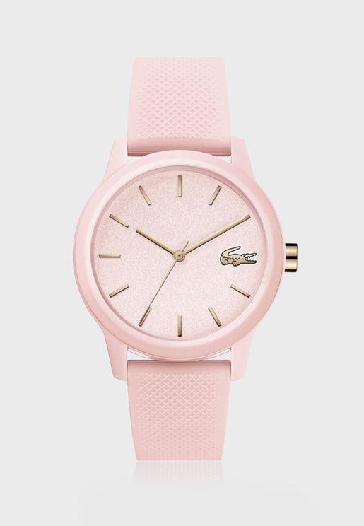 ساعة لاكوست L12.12 بسوار سيليكون للنساء - 2001065