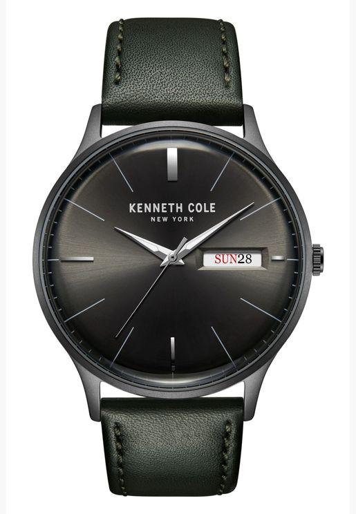 كينيث كول ساعة كلاسيك بسوار جلدي للرجال - KC50589015