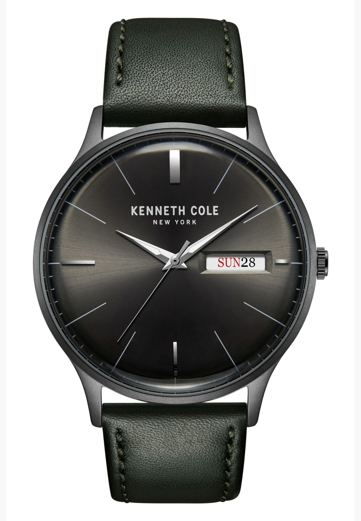 Kenneth Cole Classic Leather Strap Watch for Men - KC50589015