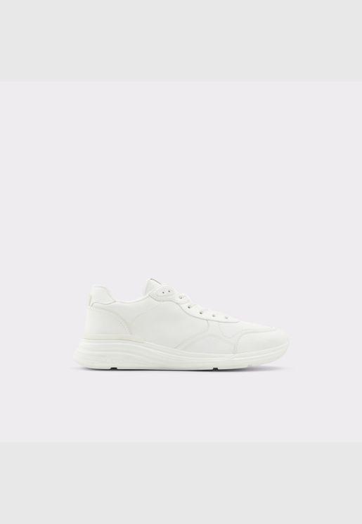 ALDO CERVAES Men Synthetic Leather Shoes Flat Heel Euro 46 White