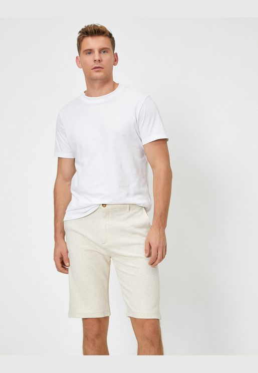 Pocketed Melange Shorts