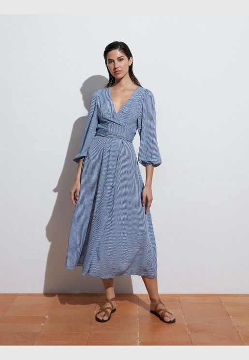 Long gingham dress