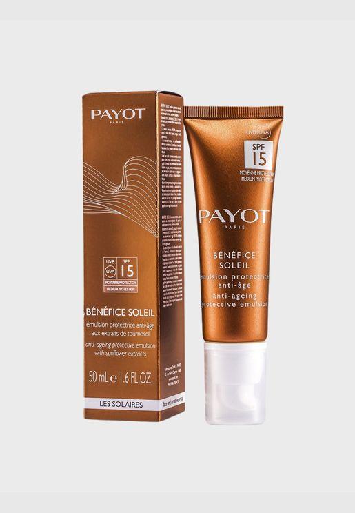 Benefice Soleil Anti-Aging Protective Emulsion SPF 15 UVA/UVB