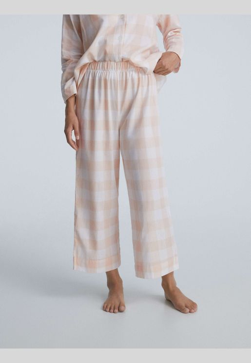 Gingham check 100% cotton culottes