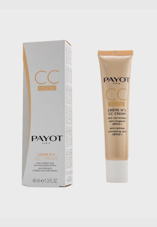 Creme N°2 CC Cream - Anti-Redness Correcting Care SPF50+