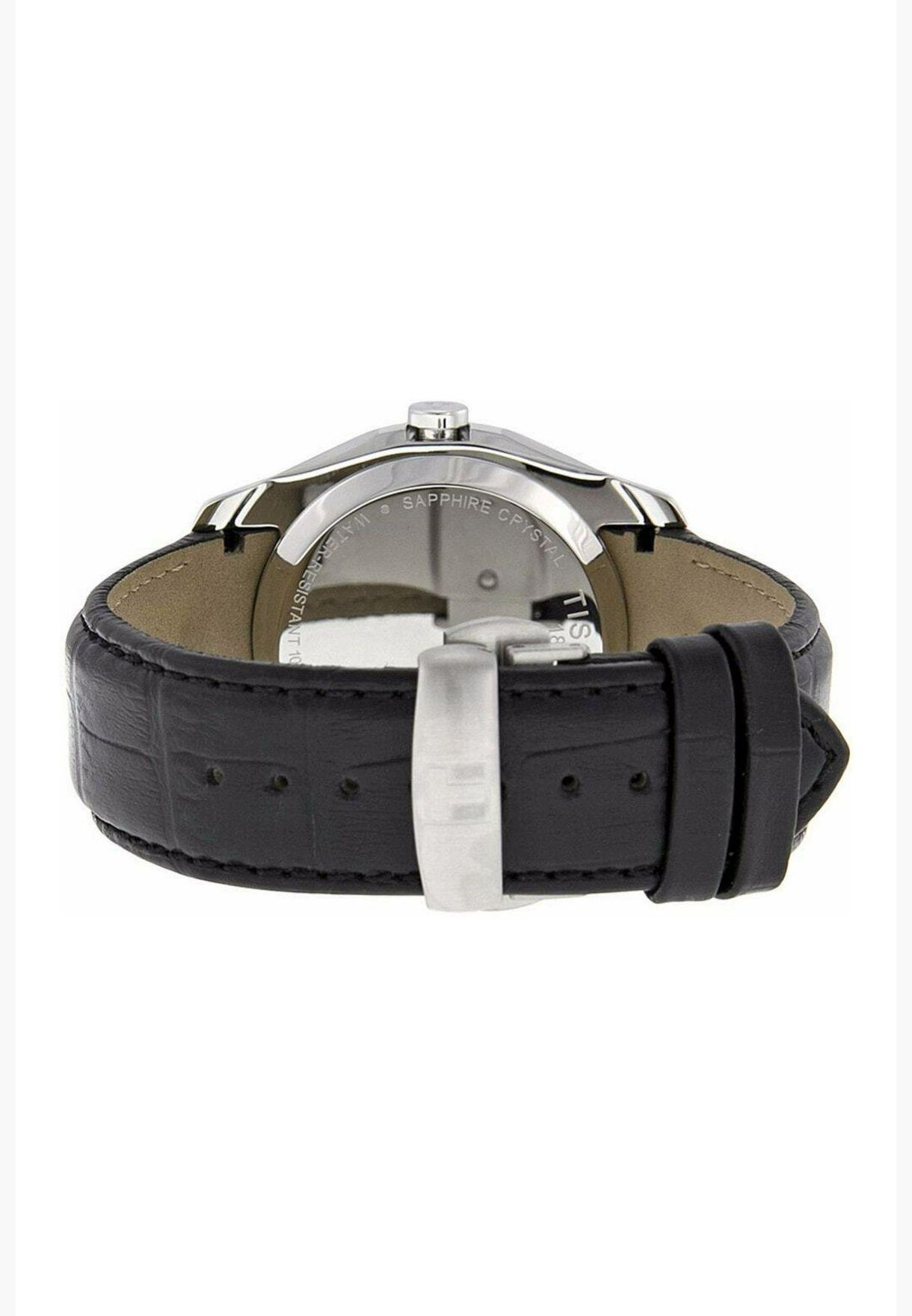 ساعة تيسو كوتورييه كوارتز بسوار جلدي - T035.446.16.051.00