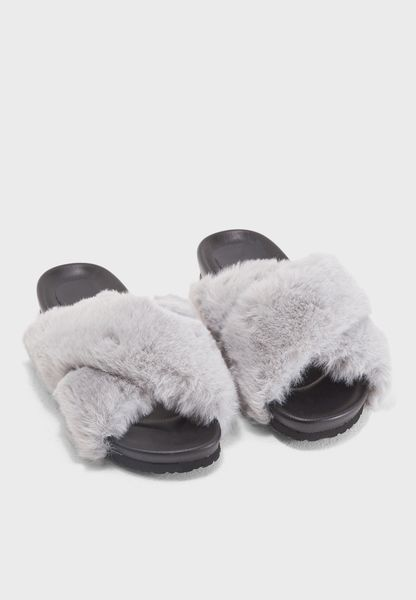 Calla Fur Slide