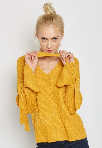 Bow Textured Sweater