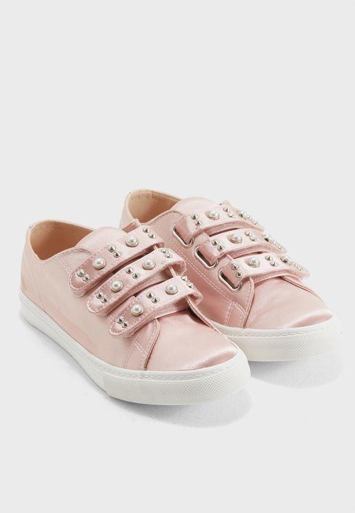 Pearl Velcro Sneaker