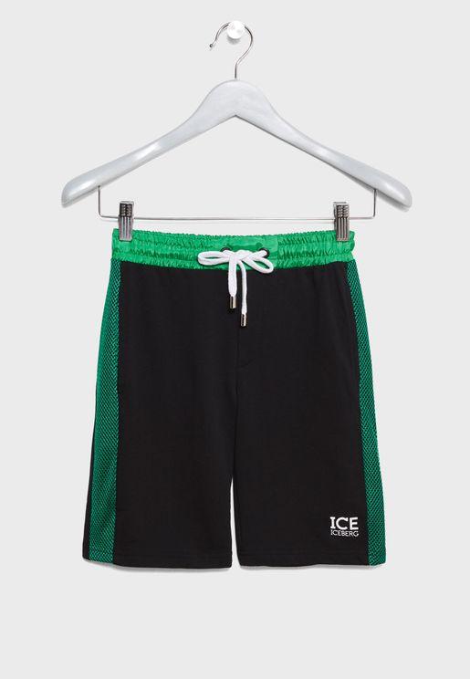 Little Felpa Bermuda Shorts