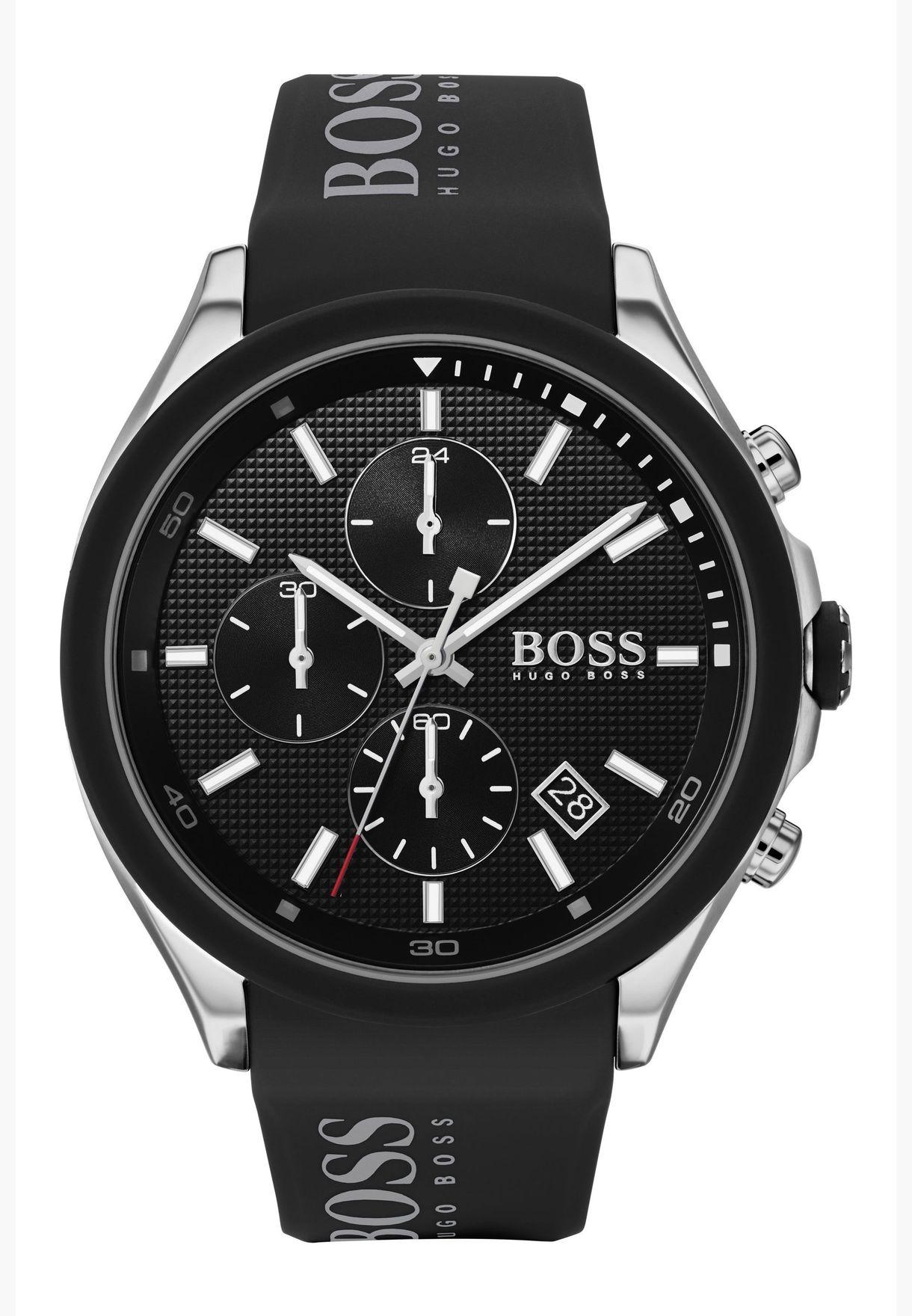 هيوغو بوس فيلوسيتي ساعة بسوار سيليكون للرجال - 1513716