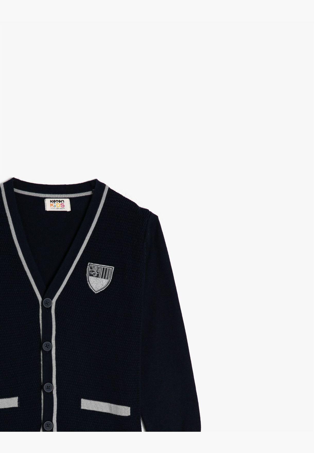 100% Cotton V Neck Cardigan
