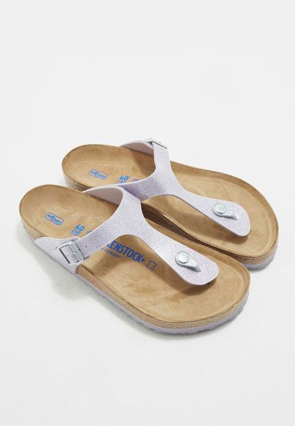 Side Buckled Thong Sandals