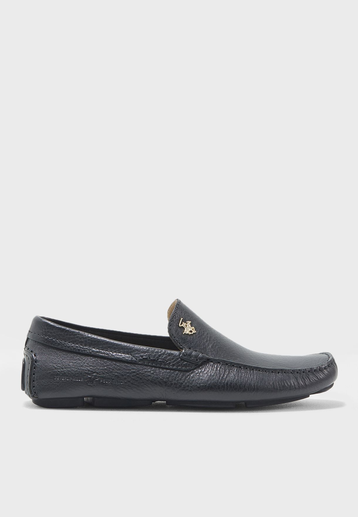 a589b6c9de64 Shop Beverly Hills Polo Club black Leather Loafers BP SH9123 for Men ...