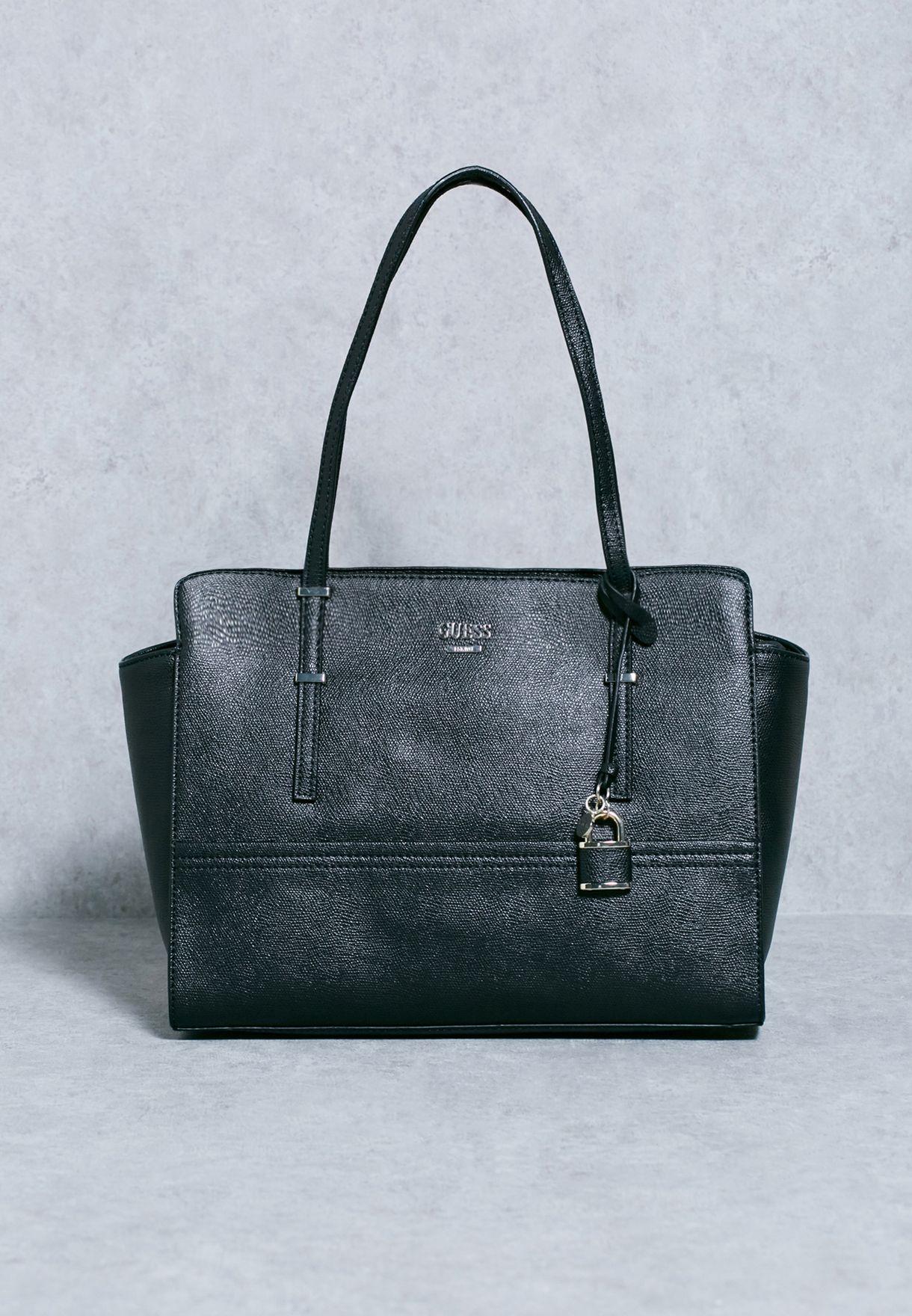 Shop Guess black Large Devyn Satchel VG642110 for Women in Saudi -  GU094AC98QSF 35e9cfb52a