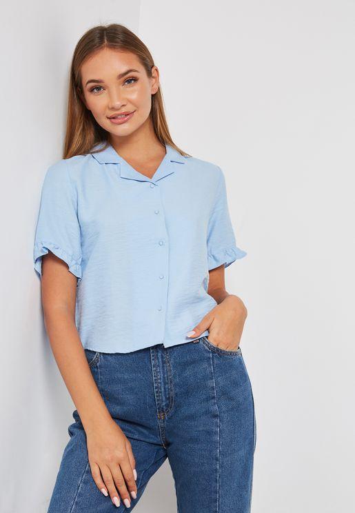 Frill Sleeve Shirt